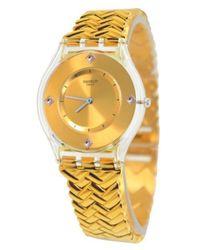 Swatch - Metallic Golden Street Unisex Watch Sfe106g - Lyst
