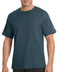 Champion - Blue Jersey Cotton Solid T-shirt for Men - Lyst