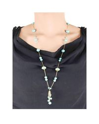 M's Gems by Mamta Valrani - Multicolor Cascade Chain With Turquoise And Beads - Lyst
