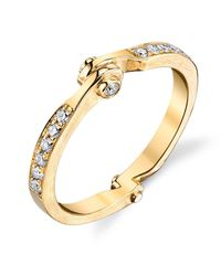 Borgioni - Metallic Handcuff Stackable Band In Yellow Gold - Lyst
