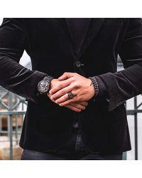 MARCOS DE ANDRADE | King Signet Ring In Titanium Black for Men | Lyst