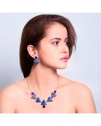 Lia Chahla - Midnight Blue Necklace And Earring Set - Lyst