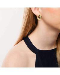 London Road Jewellery - Multicolor Kew Serpent Yellow Gold Ruby Hoop Earrings - Lyst