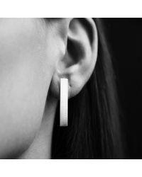 AWU Fine Jewelry - Multicolor Sterling Silver Small Storey Plank Earrings   - Lyst