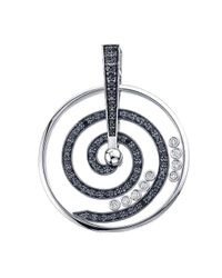 WYS - Metallic Never Ending Swirl Pendant In Black Diamond - Lyst