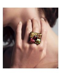Hailstones Glass Jewels - Multicolor Doretta Fine Art Glass Ring - Lyst