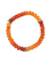 Heather Kenealy Jewelry - Red Graduated Colour Carnelian And Pave Diamond Bracelet - Lyst