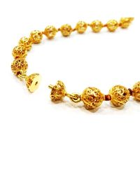 Luis Mendez Artesanos - Metallic 18kt Gold & Pearl Orient Necklace - Lyst