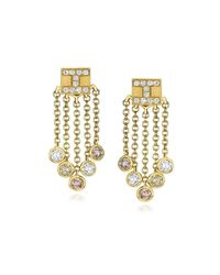 Ivanka Trump - Metallic 18k Yellow Gold Tassel Moderne Short Fringe Diamond Earrings - Lyst