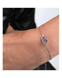 Loushelou - Multicolor Silver And Blue Sapphire Double Loop Bracelet - Lyst