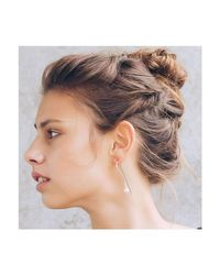 Dutch Basics | Metallic Silver Pearl Drop Earring | Lyst