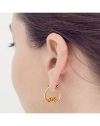 freeRange JEWELS - Metallic Rose Gold Queen Athena Earrings - Lyst