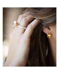 StyleRocks - Metallic Citrine 9kt Yellow Gold And Diamond Drop Earrings - Lyst