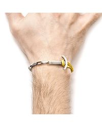 Anchor & Crew | Multicolor Mustard Yellow Brig Silver And Leather Bracelet for Men | Lyst