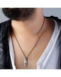Suciyan - Metallic Dragon Knot Pendant On Sterling Silver Chain - Lyst