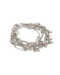 Mishanto London - Multicolor Rio Silver Labradorite And Pearl Bracelet - Lyst
