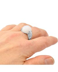 Lattis Design by Gina Pankowski - Multicolor Metropolis Bolt Ring In Silver With Rare Blue Hawks Eye Cabochon - Lyst