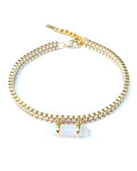 Clare Hynes - Metallic Gold Milly Choker With Opalite Pendant - Lyst