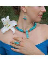 Lainey Papageorge Designs - Blue Nice Meets Native Earrings - Lyst