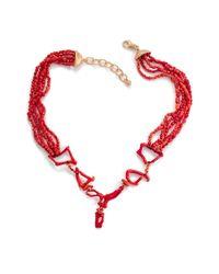Lainey Papageorge Designs - Red Coral Puzzle Neckpiece - Lyst