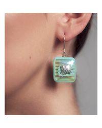 Hailstones Glass Jewels - Blue Ula Fine Art Glass Jewel Drop Earrings - Lyst