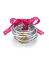 BuDhaGirl - Multicolor Silver All Weather Serenity Bangles | - Lyst