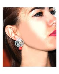 Toosis - Metallic Coral Reefs Silver Earrings - Lyst