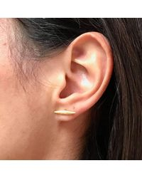 Diane Dorsey - Multicolor Gold Light Bar Ear Studs - Lyst