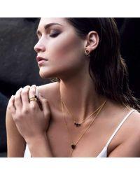 Silk And Steel - Metallic Gold Allure Necklace With Smokey Quartz - Lyst