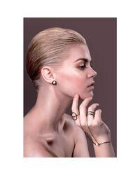 Cara Tonkin - Metallic Silver Orbit Saturn Stud Earrings - Lyst
