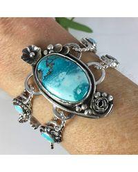 Sandra Anne Designs - Blue Flashy Labradorite Wrap Bracelet - Lyst