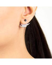 Pargo Jewelry - Multicolor Mouj Earrings-silver And Peacock Pearl - Lyst