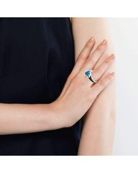 Becky Rowe | Oxidised Silver Blue Topaz Ring | Lyst