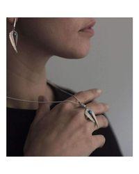 Patience Jewellery | Metallic Fern Pearl Necklace | Lyst