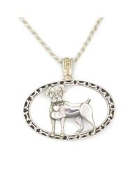 Donna Pizarro Designs - Metallic Sterling Boxer Necklace With 14kt Accent - Lyst