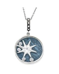 WYS - Blue Silver Floating Star And Diamonds - Lyst