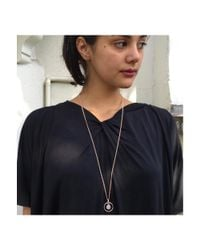 Vicky Davies - Multicolor Sterling Silver & 18kt Rose Gold Long Orb Moonstone Necklace - Lyst