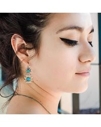 Meltdown Studio Jewelry - Multicolor Butterfly Earrings - Lyst
