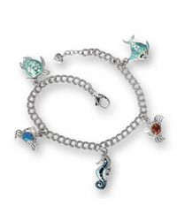 Nicole Barr - Metallic Silver Ocean Multi Treasures Bracelet - Lyst