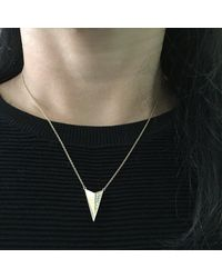 Kaych Fine Jewellery - Metallic V Wing Necklace Yellow Gold - Lyst