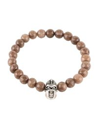 Latelita London | Multicolor Warrior Bracelet Sterling Silver Brown Agate for Men | Lyst