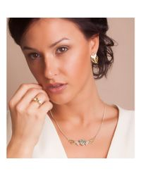 Anna Byers Jewellery - Multicolor Wing Necklace With Green Quartz - Lyst