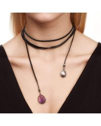 Hyrv | Multicolor Collier Plum Purple/ Grey Titanium | Lyst