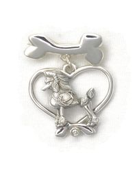 Donna Pizarro Designs - Metallic Sterling Silver And Diamond Poodle Brooch - Lyst