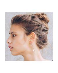 Dutch Basics - Metallic Silver Pearl Drop Earring - Lyst