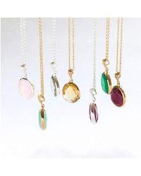 Juvi Designs - Multicolor Baja Silver Pendant With Aqua Chalcedony - Lyst