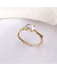 Brandts Jewellery - Metallic Twig Engagement Ring In Gold With White Sapphire - Lyst