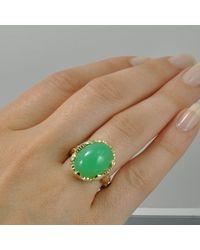 Alex Gulko Custom Jewelry - Green Chrysoprase Yellow Gold Ring - Lyst