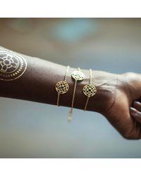 Silatha - Fine Jewellery & Meditation - Metallic The Rhythm Of Life Yellow Gold Bracelet - Lyst