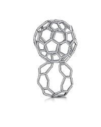 Goldneilson - Metallic Air Sphere Dia Plat Ring - Lyst